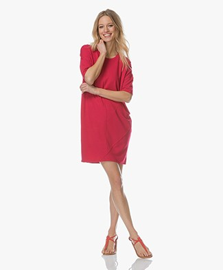 Denham Unite Jersey T-shirt Dress - Red Sizzle