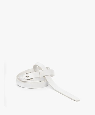 Drykorn Greedy Thin Leather Belt - White