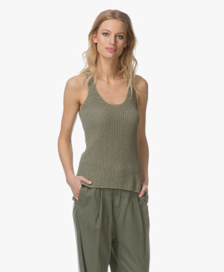 Indi & Cold Knit Tank Top - Militar