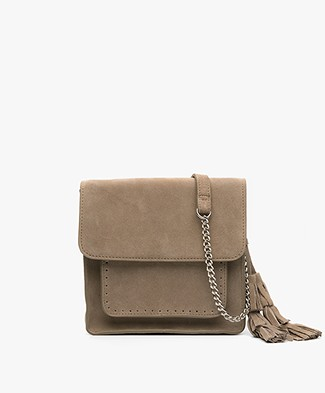 indi & cold Suede Shoulder Bag - Humo