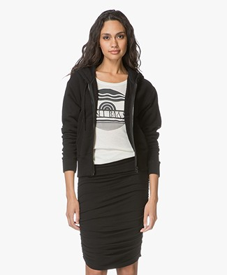James Perse Terry Hoodie - Black