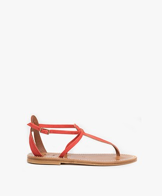 K.Jacques St. Tropez Buffon Suede Leather Sandals - Dragon