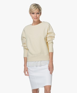 Rag & Bone / Jean The Raglan Sweatshirt - Pale Yellow