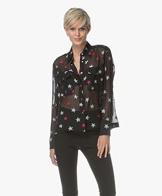 Rag & Bone Pearson Chiffon Shirt - Black Multi