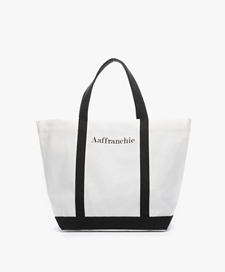 Vanessa Bruno Aaffranchie Canvas Shopper - White