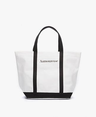 Vanessa Bruno Aamoureuse Canvas Shopper - White