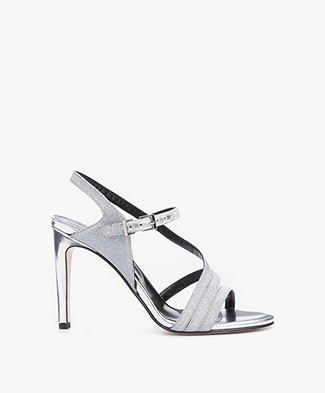 Zadig & Voltaire Marilyn Heeled Sandals - Argent