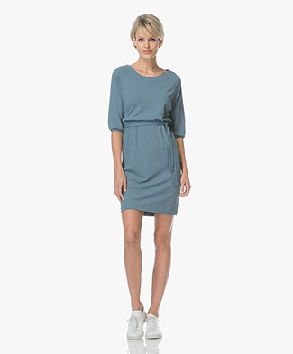 no man's land Crêpe Jersey Dress - Eucalyptus