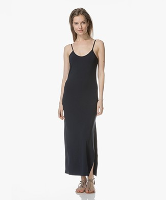 no man's land Maxi Dress in Crepe Jersey - Dark Saphire