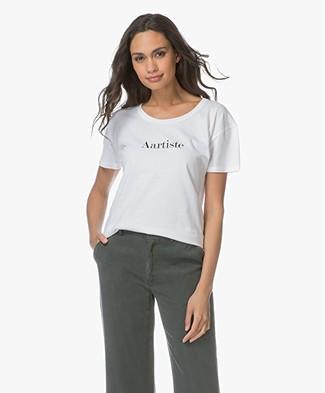 Vanessa Bruno Aartiste Katoenen T-shirt  - Wit