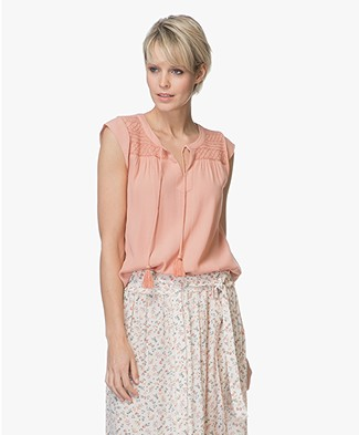 indi & cold Gesmokte Viscose Top - Palo