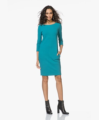 Kyra & Ko Anna Viscose Blend Crepe Jersey Dress - Turquoise