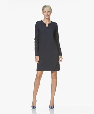no man's land Jersey Tunic Dress - Dark Sapphire