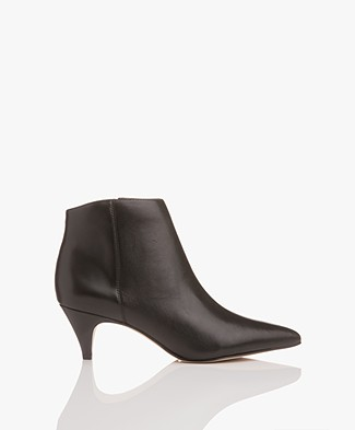 Sam Edelman Kinzey Modena Leather Ankle Boots - Black