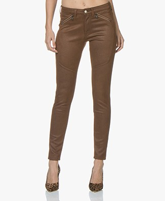 Indi & Cold Structured Faux-leather Pants - Tabaco