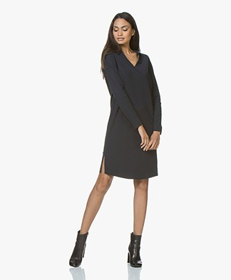JapanTKY Kibou Travel Jersey Dress - Black Blue