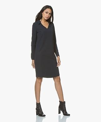 JapanTKY Kibou Travel Jersey Dress - Black Blue