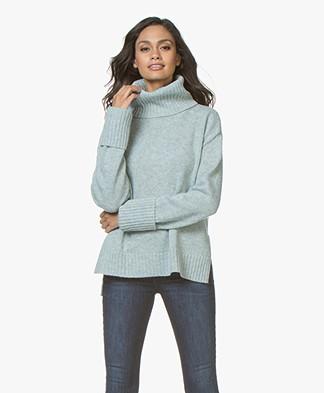 Filippa K Chunky Roller Neck Sweater - Aqua Melange
