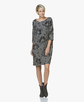 Kyra & Ko Lois Brocade Jacquard Dress - Grey
