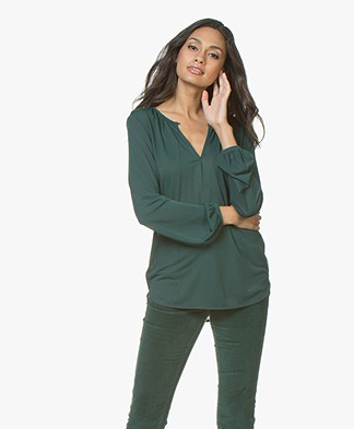 Filippa K Sheer Crêpe Blouse - Emerald