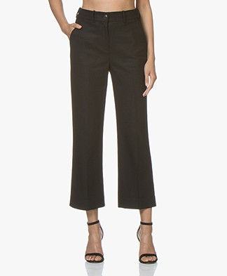 Rag & Bone Libby Cropped Wool Blend Pants - Black