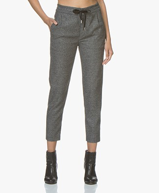 Drykorn Level Cropped Tweed  Pants - Anthracite Melange