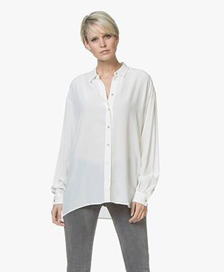 BOSS Ecluni Silk Blouse - Open White