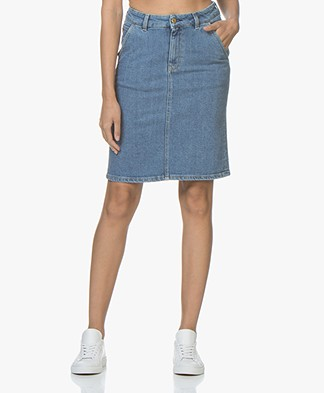 Filippa K Alicia Washed Denim Rok - Mid Blue