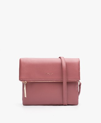 Matt & Nat Hiley Fold-over Shoulder Bag - Mauve