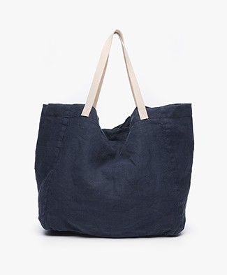 indi & cold Linnen Shopper - Marino