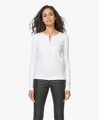 Petit Bateau Iconic Cotton Cardigan - White