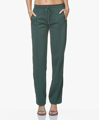 Closed Sweatpants met Rechte Pijpen - Evergreen