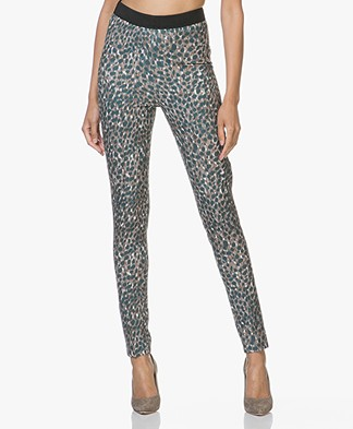 Kyra & Ko Jill Soft Scuba Pants with Print - Bottle