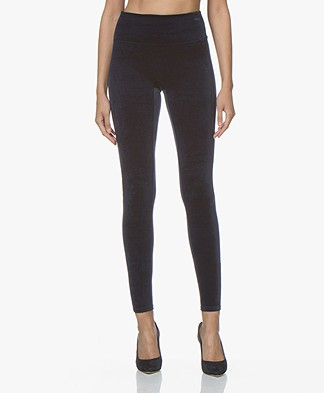 SPANX® Structured Velvet Leggings - Blue