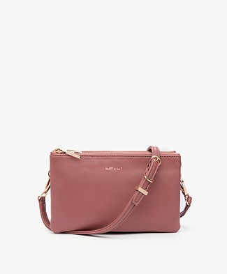 Matt & Nat Triplet Loom Cross-Body Tas - Mauve