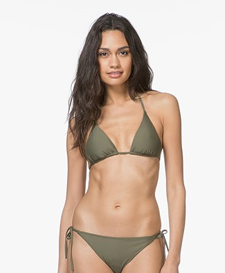 Calvin Klein Triangle Bikini Top - Olive Night