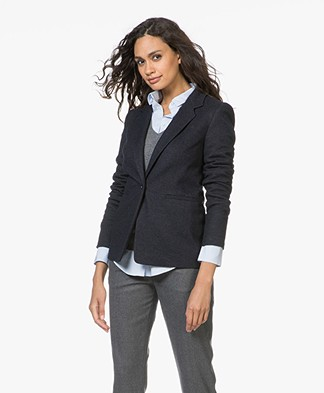 Drykorn Golders Brushed Jersey Blazer - Dark Blue