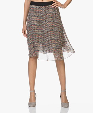 LaSalle Chiffon A-line Skirt with Print - Dots