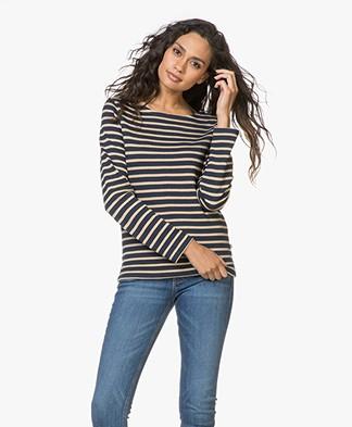 Petit Bateau Tyrolie Striped Pullover - Smoking Brindille Brillant
