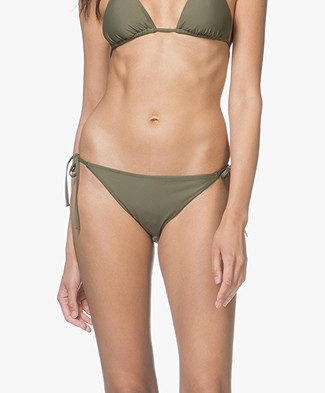 Calvin Klein Cheeky String Side Tie Bikini Briefs - Olive Night