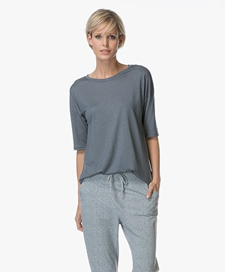Filippa K Elbow Sleeve Swing Top - Pigeon