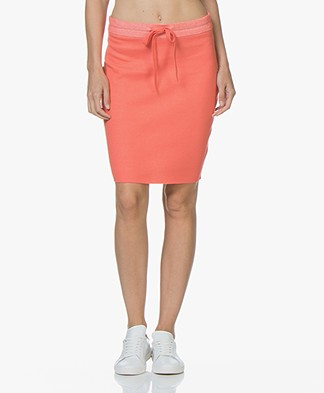 Josephine & Co Jotte Fine Knitted Pencil Skirt - Coral