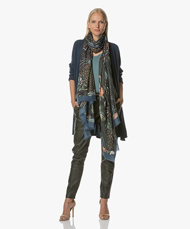 Zadig et Voltaire Maxy Patchwork Jungle Scarf - Bouteille