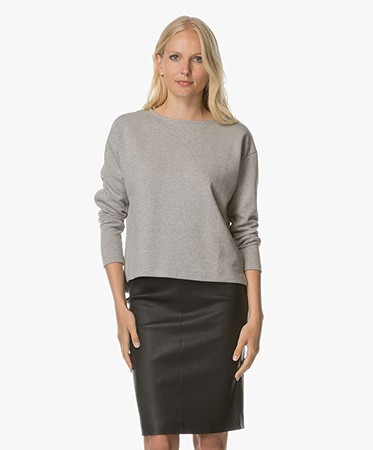BY-BAR - BY-BAR Dia Tweed Sweater - Lichtgrijs