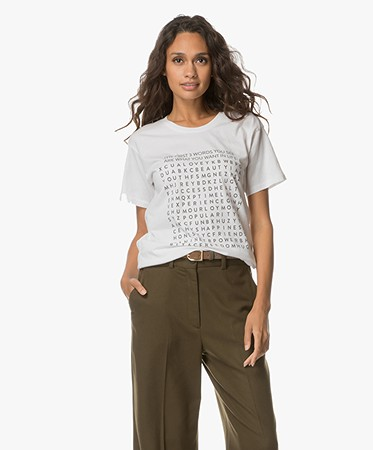 Anine Bing - Anine Bing Word Search T-shirt - Off-white