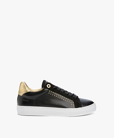 zadig et voltaire skulls sneakers zwart goud wfab1707f. Black Bedroom Furniture Sets. Home Design Ideas