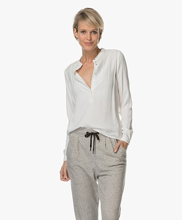 BY-BAR - BY-BAR Mao Viscose Blouse - Off-white