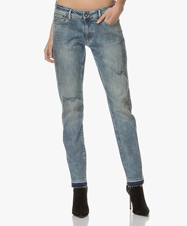 Denham Monroe Girlfriend Fit Jeans - Vintage Blauw