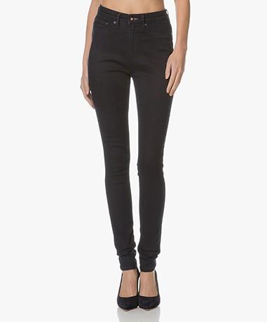 Denham Needle High Skinny Jeans - Deep Dark Blue