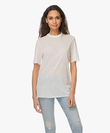 Matin Studio Fine Knitted T-shirt - White